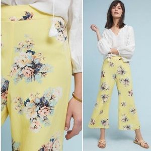 Anthropologie Feather Bone Talese Wide-Leg Pants